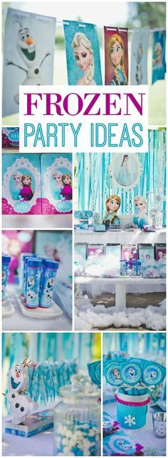 Disney Frozen Birthday Party for a 3 Year Old