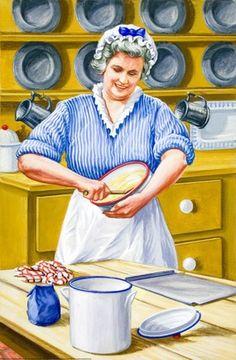 Mixing gingerbread - The Gingerbread Boy - Robert Lumley - Ladybird Book