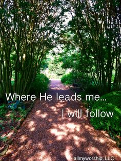 Where He leads me Photo taken & edited by Amy Coleman