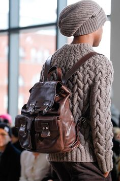 Michael Kors | Fall 2014 Ready-to-Wear Collection | Style.com Love how the decreases around the shoulders are integrated into the cable.