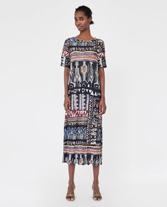 Wrinkled-Effect Printed Dress from zara - USD Cheap Fashion, Womens Fashion, Zara Women, Spring Summer 2018, Cover Up, Textiles, Casual, Prints, How To Make
