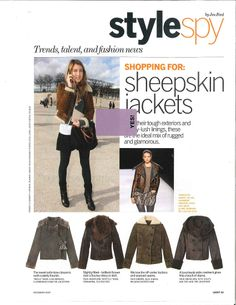 Winter Outfit ideas. Black tights and skirt, sheepskin jacket