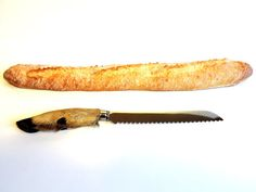 French Vintage Deer Hoof Bread Knife by SouvenirsdeVoyages on Etsy