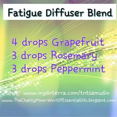 doTERRA Essential Oils blended for diffusing - Fatigue / Exhaustion Essential Oils Hypothyroidism, Essential Oils For Thyroid, Essential Oils For Inflammation, Natural Essential Oils, Essential Oil Uses, Grapefruit Essential Oil, Doterra Grapefruit, Doterra Rosemary, Diffuser Recipes