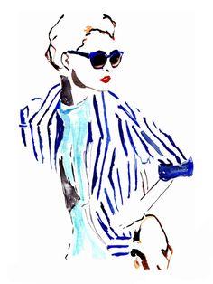 Christian Dior 1 Fashion Illustration by PalettesOfFashion on Etsy