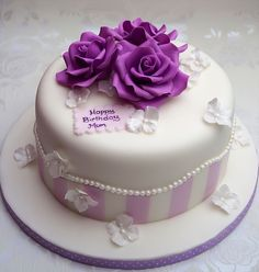 Images result for Pretty Birthday Cakes For Women Happy Birthday Cakes For Women, Vintage Birthday Cakes, Friends Birthday Cake, Pretty Birthday Cakes, Pretty Cakes, Birthday Wishes, Cake Birthday, Birthday Greetings, Happy Birthday Sister Cake