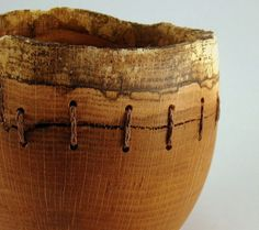turned wood bowl - Sutured Sedimentary Layers Red Oak Bowl by makye77 on @Etsy