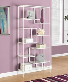 Look at this #zulilyfind! Monarch Specialties White Metal & Glass Bookcase by Monarch Specialties #zulilyfinds