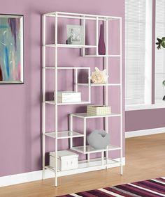 Look at this #zulilyfind! Monarch Specialties White Metal & Glass Bookcase by Monarch Specialties #zulilyfinds