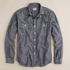Gray Chambray Utility Shirt | j.crew