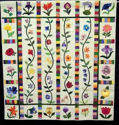 Quilt Inspiration: October 2012  Mixed Borders by Elizabeth Woodcock of South Africa
