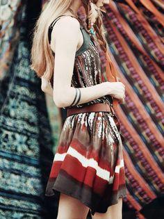 Aporia. AS Printed/Dyed Chiffon Mini Dress