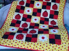 Yellow Ladybug Quilt by chickenlipsfarm on Etsy. $100.00, via Etsy.
