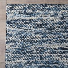 Handwoven with New Zealand wool, this Azure Rug is a rustic yet modern addition to the room. There's a beautiful pattern play between the subtle stripe and repetitive design. Contemporary Area Rugs, Modern Rugs, Costal Bedroom, Master Bedroom, Beach Living Room, Living Room Pillows, Rustic Rugs, Traditional Area Rugs, Rugs Usa