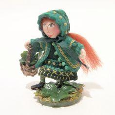 Lil Irish Lassie Art Doll Miniature St Patrick's by TwoLeftHands