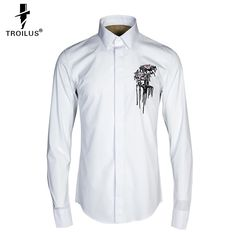 Find More Casual Shirts Information about Troilus 2016 Men Shirt Luxury Brand Summer Homme Breathable European Royal Embroidery Flower Shirt High grade Long Sleeve Shirts,High Quality shirts skins,China shirt best Suppliers, Cheap shirt mickey from Troilus Flagship Store on Aliexpress.com