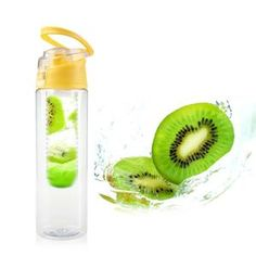 Fruit Water Infuser Bottle with Flip Lid Fruit Infused Water, Infused Water Bottle, Fruit Water, Water Bottles, Fruit Infuser Bottle, Fruit Detox, Making Iced Tea, Detox Organics, Natural Cleanse