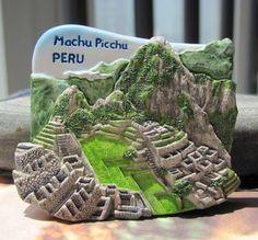 Free Shipping Souvenir Gift Resin Fridge Magnet Machu Picchu of Peru City Fridge Magnetic(China (Mainland))