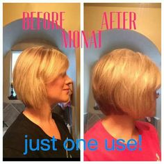 Look how great her hair looks just after one use. Can you imagine what MONAT can do for YOU!!  NICOLECOLE.MYMONAT.COM
