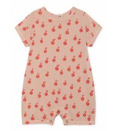 Pink Oranges Print Playsuit by Bobo Choses. Pink baggy playsuit overall. Pink Playsuit, Baby Apple, Apple Prints, Modern Kids, Fashion Kids, Simple Dresses, Organic Cotton, Vintage Fashion, Rompers