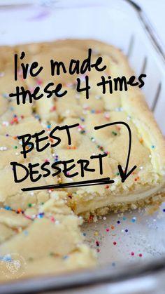 Smores Dessert, Grill Dessert, Easy Dessert Bars, Sugar Cookie Cheesecake, Cheesecake Bars, Cookie Desserts, Cake Batter Cheesecake, Cake Mix Desserts, Party Desserts