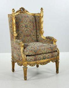 Louis XVI Style Gilt Wood Bergere