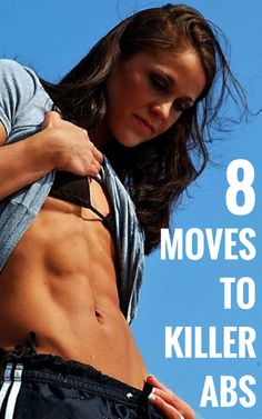 Just 8 moves in 8 minutes, 3 times a week to get your abs to pop. #abs #fitness #workout #health http://rupertreviews.com/show-off-your-flat-tummy-with-these-8-killer-moves/