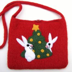 Felted Christmas bag