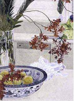 Cressida Campbell Contemporary Australian Artists, National Art School, New York Painting, Watercolor Fruit, Watercolour Painting, Still Life Art, Linocut Prints, Japanese Art, Painting Prints