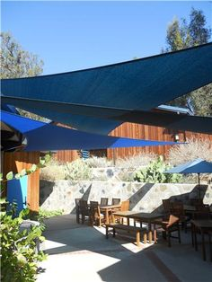 Shade Sail -- better than pergola? I want some over my pool Deck Shade, Sun Sail Shade, Backyard Shade, Outdoor Shade, Backyard Patio, Backyard Landscaping, Shade Sails, Sun Sails, Outdoor Rooms