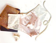 Romantic Ballet Pink Satin & Lace Cheeky Panties Made to Order. $25.00, via Etsy.