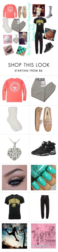 """HIS/HER SPIRIT DAY OUTFIT FOR SCHOOL!(:"" by salvatore21051 ❤ liked on Polyvore featuring Victoria's Secret, M&Co, UGG Australia, DB Designs, Jordan Brand, J. America, Armani Jeans, NIKE and PBteen"