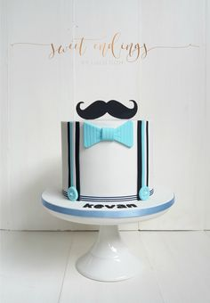 Love this Little Man cake! Birthday Cake For Papa, 1st Birthday Foods, Diy Birthday Gifts For Dad, Little Man Birthday, Birthday Bbq, First Birthday Cakes, Little Man Cakes, Cake For Boyfriend, Dad Cake