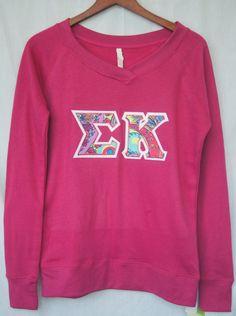 Rose VNeck Sweatshirt With Lilly Print On by UniversityShop, $29.98  YAAAS ΣΚ love