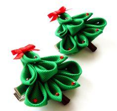 Kanzashi Christmas Tree.