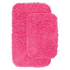 Garland Rug BEN-2pc-11 Jazz Washable Nylon Shaggy Bath Rugs (Set #home #decor sale & deals Color:Pink Jazz Collection Bath Rug 2 piece set Jazz bath rugs by Garland Rug make a stylish statement. Made with Invistas Comforel nylon.The shag des...
