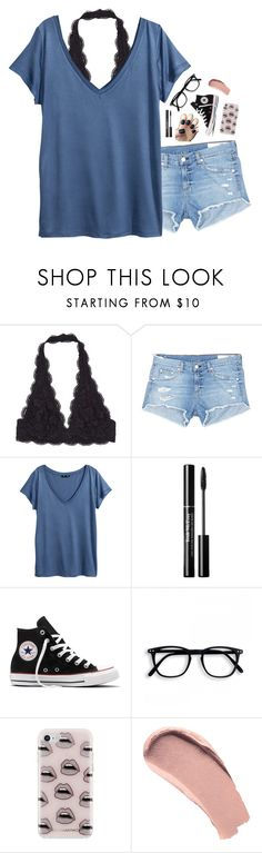 """❥ oh darling my heart's on fire"" by pineapple5415 ❤ liked on Polyvore featuring rag & bone/JEAN, H&M, Converse, Rebecca Minkoff and Burberry"