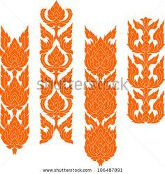 Thai Art Pattern Stock Vector 106487891 : Shutterstock