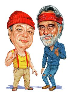 Cheech Marin And Tommy Chong As Cheech And Chong.     For more great pins go to @KaseyBelleFox