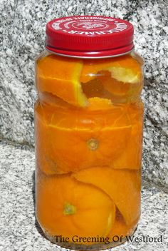 Citrus infused Vinegar for cleaning - cancels out the vinegar smell! Stuff jar with citrus peels, cover completely with vinegar, let sit for 1-2 weeks, shake occasionally. When it smells more like fruit than vinegar, it's done! Use in making DIY cleaners, instead of adding essential oils!