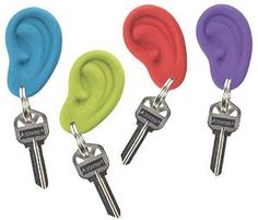 "I have a green one and a blue one!    ""Ear rings""!! audiology"