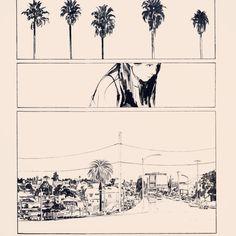 California inkin. #WIP #comics #ink #panels by aseyn