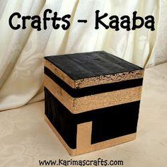 Karima's Crafts: Paper Mache Kaaba - 30 Days of Ramadan Crafts
