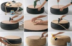 Creative Uses for Old Tires | How to Use Old Tires For Inside And Outside Design (part 1) - Creative ...
