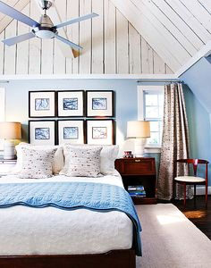 Google Image Result for http://cdn.decoist.com/wp-content/uploads/2012/04/beautiful-modern-blue-and-white-bedroom-in-attic.jpg