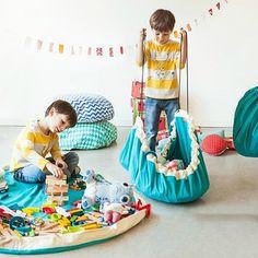 Hrací podložka a pytel na hračky v jednom Play and Go Diamond Green Toy Storage Bags, Lego Storage, Green Play, Kids Collection, Muuto, Play N Go, Toy Organization, Happy Baby, Zara Home