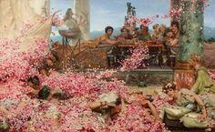 Lawrence Alma-Tadema (1836-1912), Les Roses d'Héliogabale (1888), Huile sur toile, 132,7 x 214,4 cm, Mexico, Collection Pérez Simon.