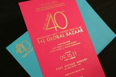 Gold transfer // Travel + Leisure 40th Anniversary Party