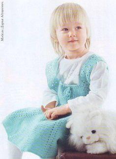 sundress tricot pentru fetita