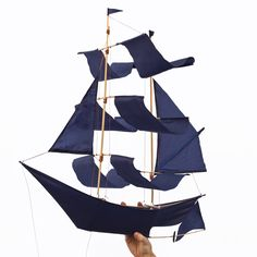 Sailing Ship Kite - indigo from Haptic Lab need this in my life: http://www.hapticlab.com/collections/sailingships/products/shipkite-indigo